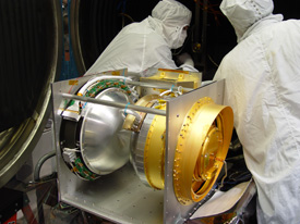IBEX Payload on Text Fixture Before Thermal Vacuum Testing