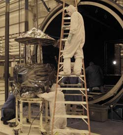 Pulling the IBEX Spacecraft Out of the Thermal-Vacuum Chamber